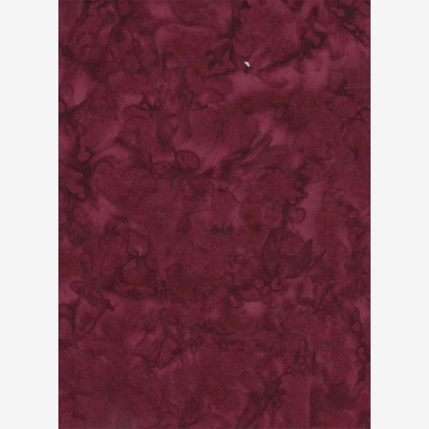 Mørk rødbrun batik