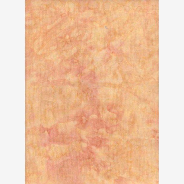 Ferskenfarvet batik