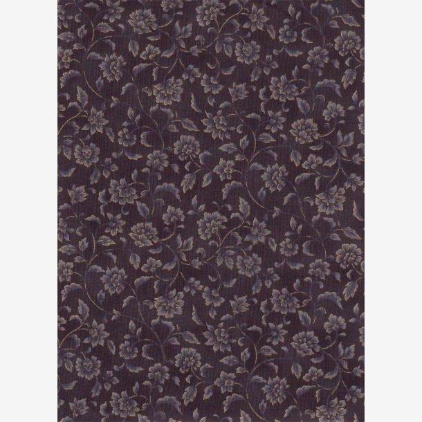 Blomsterranker/sort