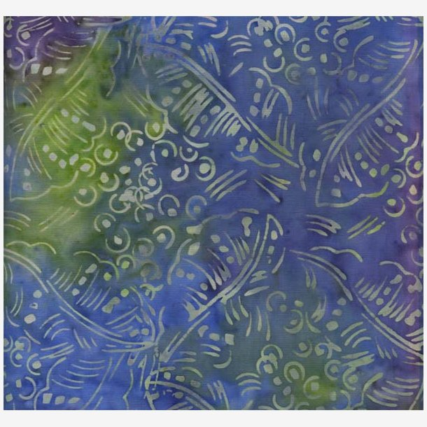 Blå/grøn/lilla batik