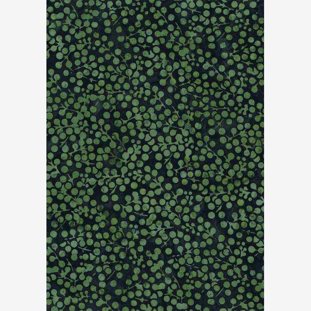 Grønne bær på mørk grøn (batik)