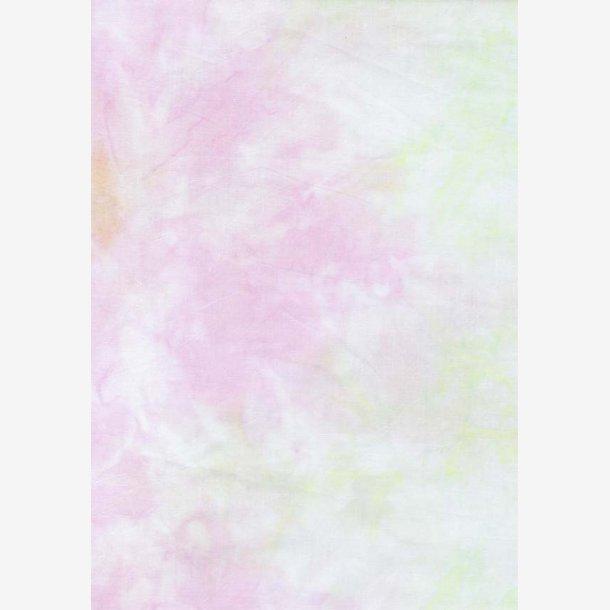 Lys grøn/beige/rosa batik