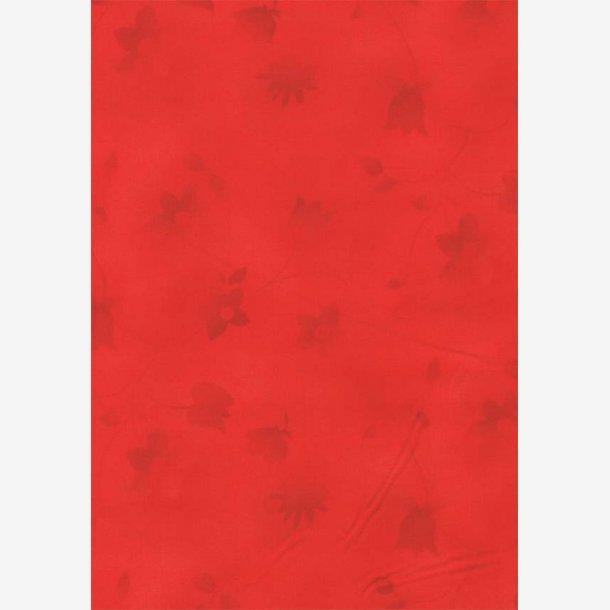 Røde tone-i-tone blomster