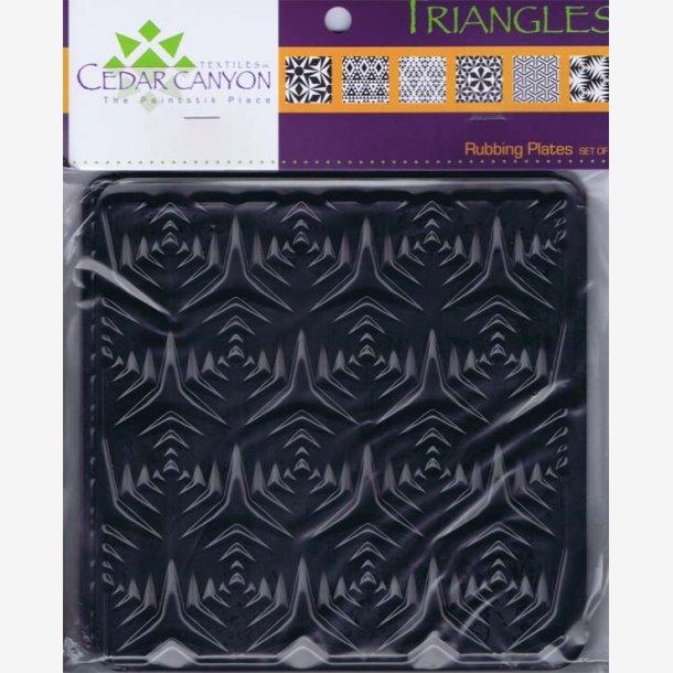 Mønster til paintstik - trekanter