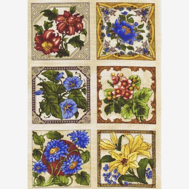 Kakler med blomster