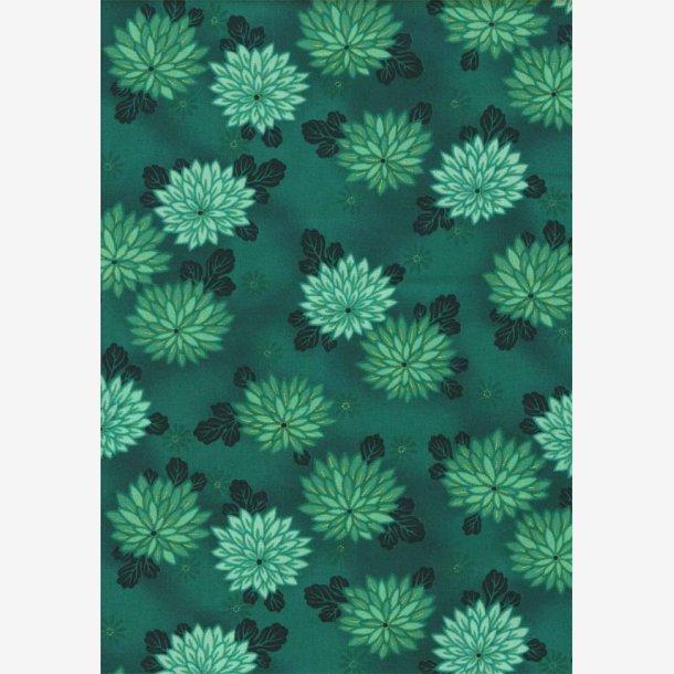 Chrysantemum på blågrøn