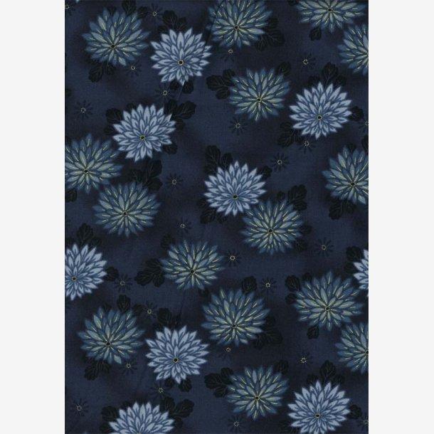Chrysantemum på mørk blågrå