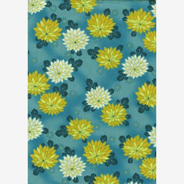 Chrysantemum på turkisblå