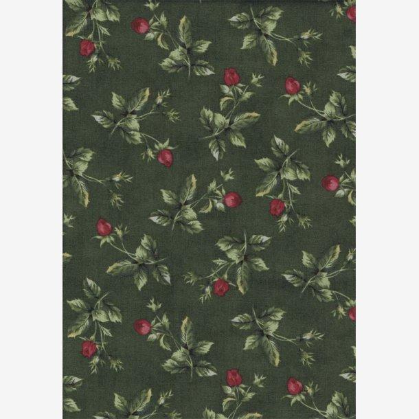 Rosenkviste på mørk grøn