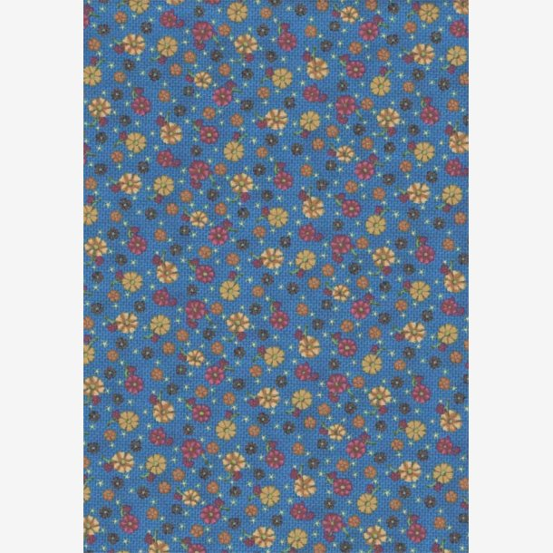 Små blomster på blå struktur