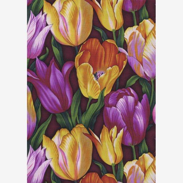 Tulipaner - lilla/gylden