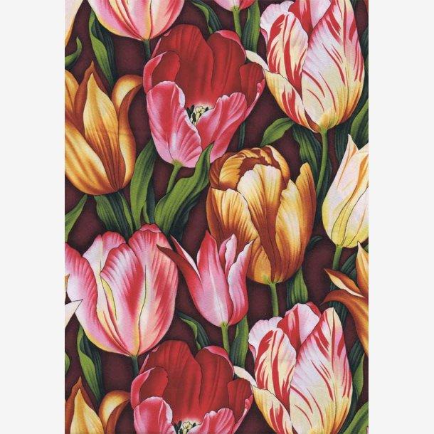 Tulipaner - pink/gul/gylden