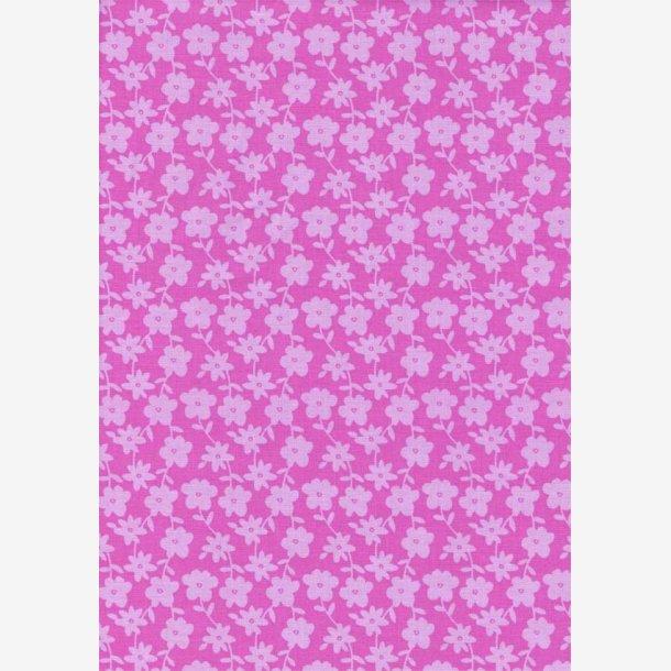 Stiliserede lyserøde blomster på pink