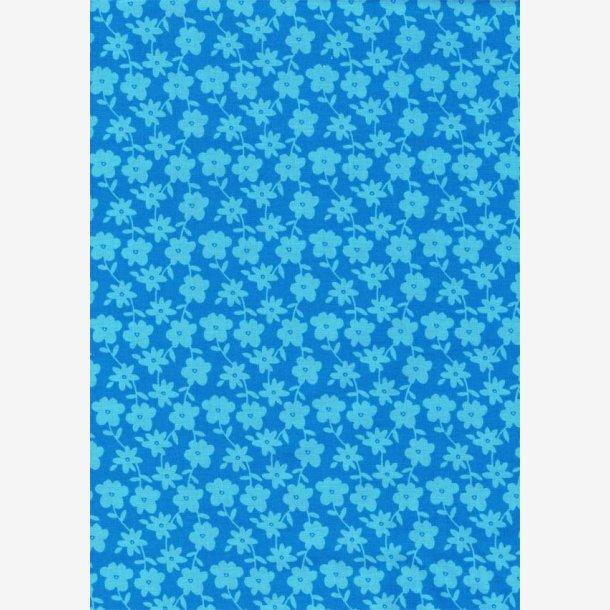Stiliserede lys blå blomster på turkis
