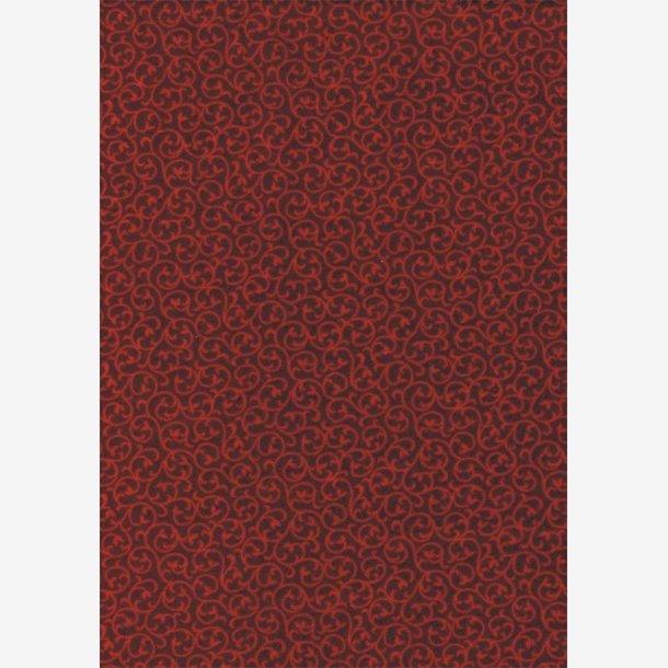 Rød tone-i-tone (flonel)