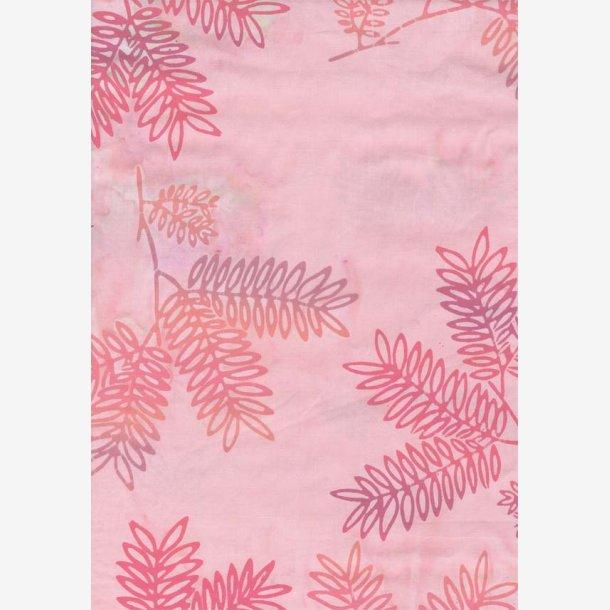 Orange/lilla grene på lys rosa