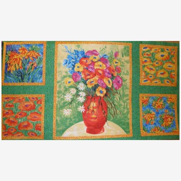 Vase med blomster - panel