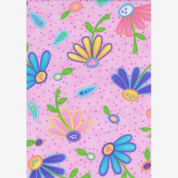 Blomster på lys pink