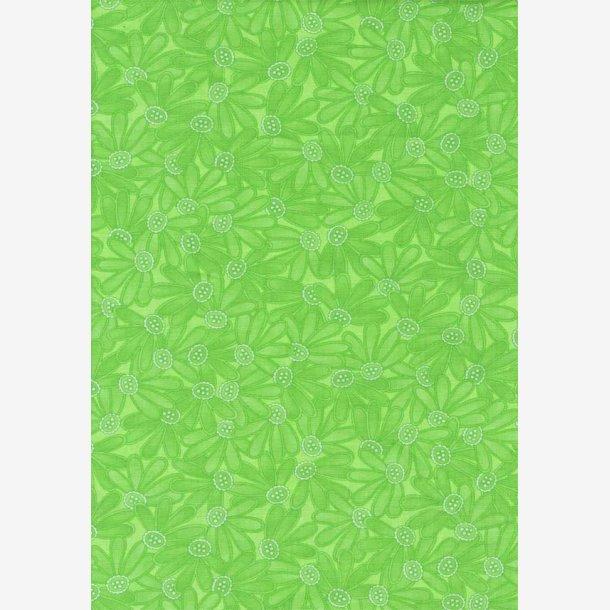 Grønne tone-i-tone blomster.
