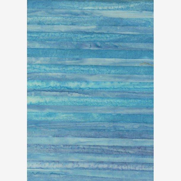Lys blå tone-i-tone striber - batik