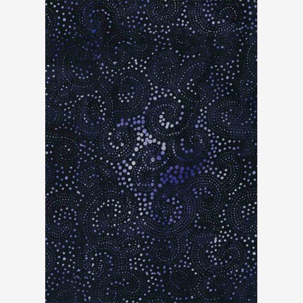 Prikker på blå (batik)