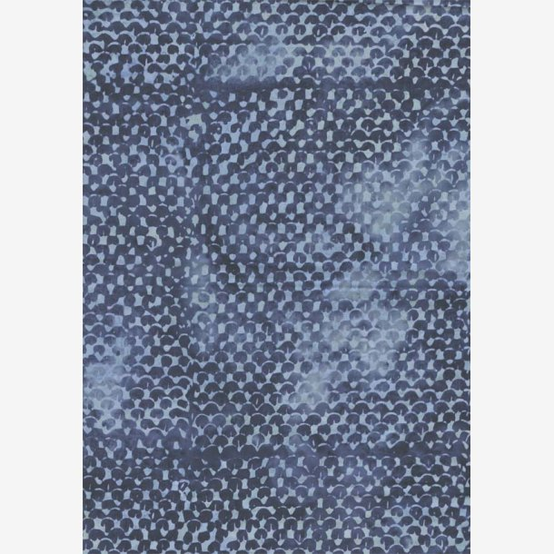 Blågrå tone-i-tone batik
