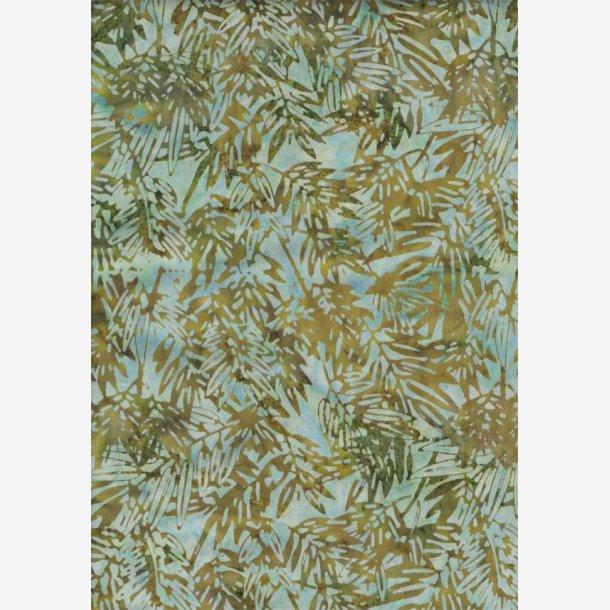 Oliven/mintgrøn batik