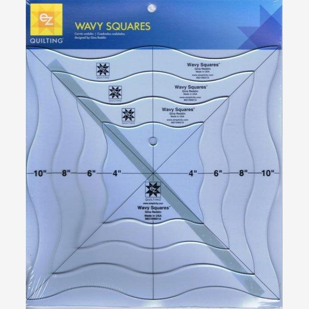 Wavy Squares skabelonsæt - 4 størrelser