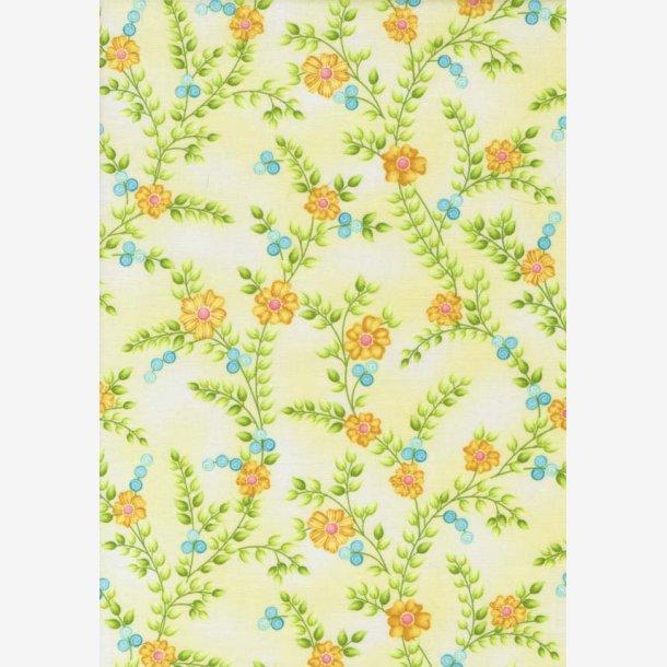 Blomsterkviste på lys gul