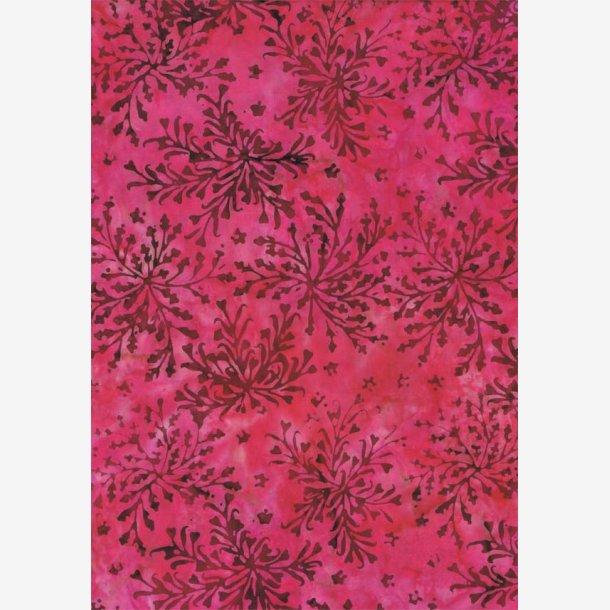 Pink batik med bregnemønster