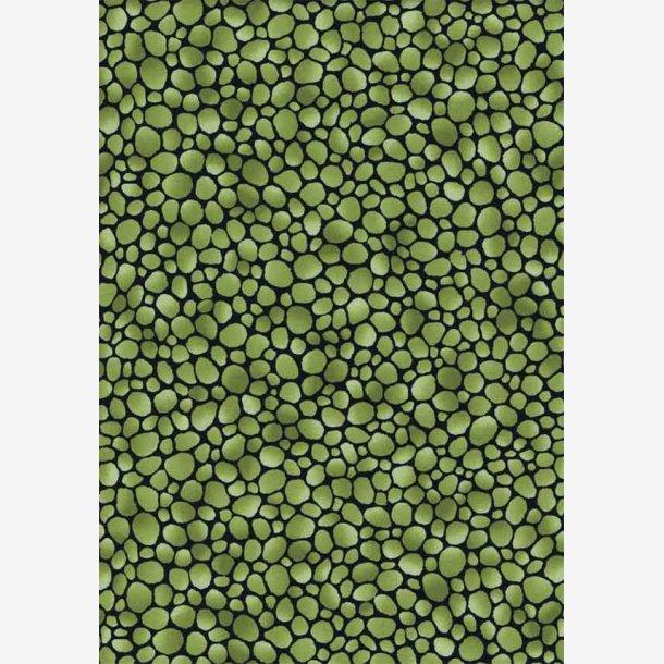 Lysegrønne 'sten' på sort