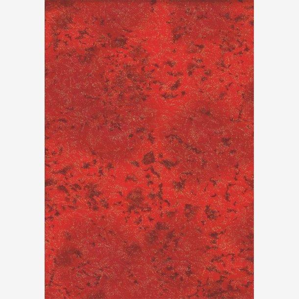 Rød tone-i-tone med metaleffekt