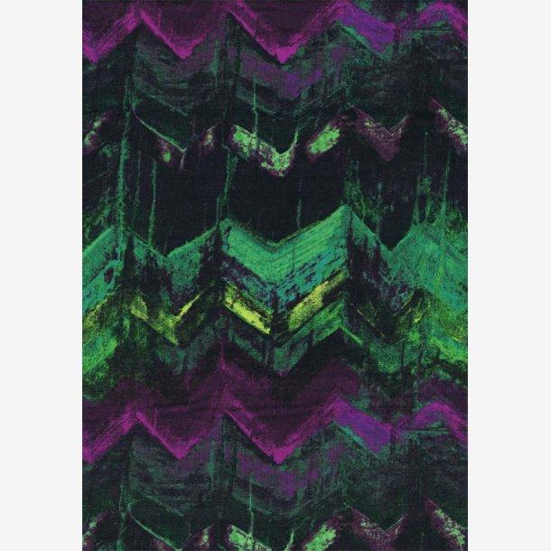 Grøn/lilla zig zag-mønster