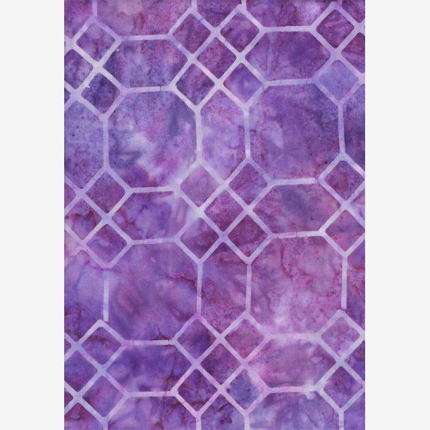 Lys lilla geometri (batik)