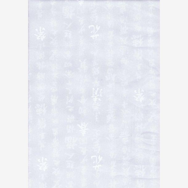 Hvid tone-i-tone med skrifttegn