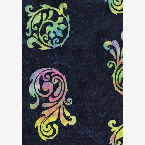 Motiver i pastelfarver til bort (batik)