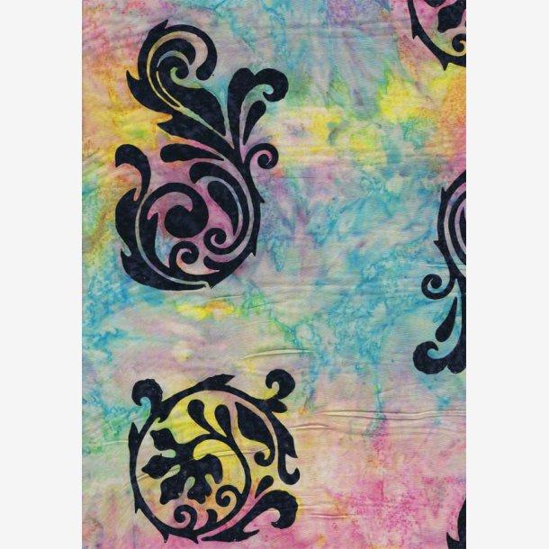Midnatsblå motiver til bort (batik)