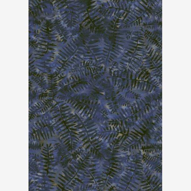 Bregnemønster på støvet blå