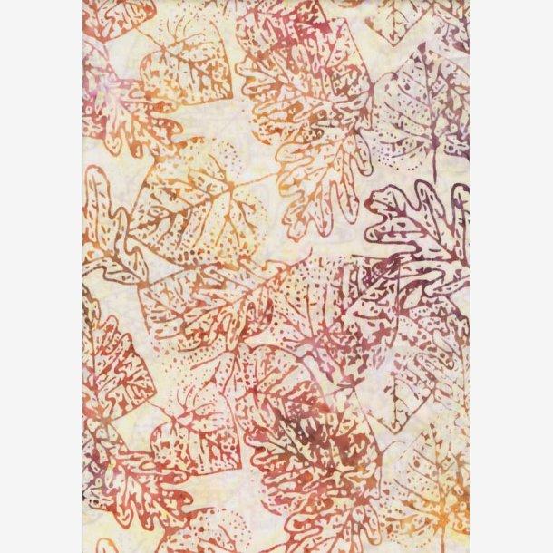 Blade på lys baggrund (batik)