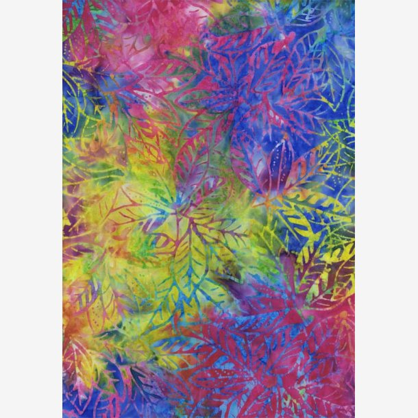 Multifarvet batik