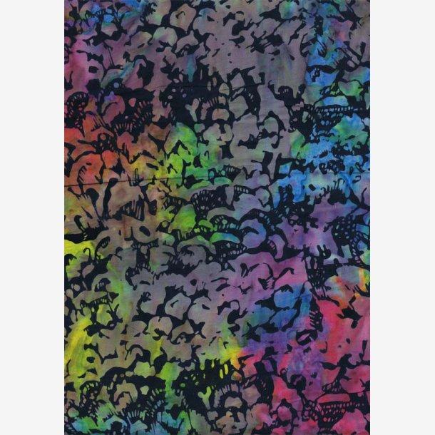 Multifarvet batik - ca. 265 cm bred