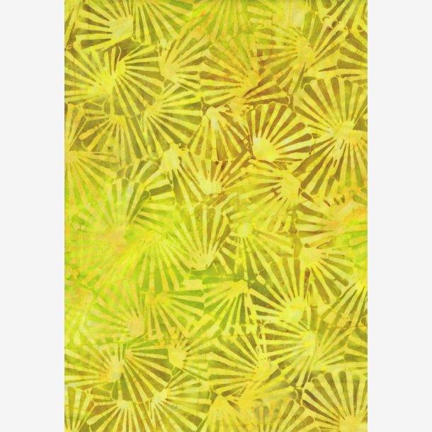 Gul/gylden batik med 'vifter'