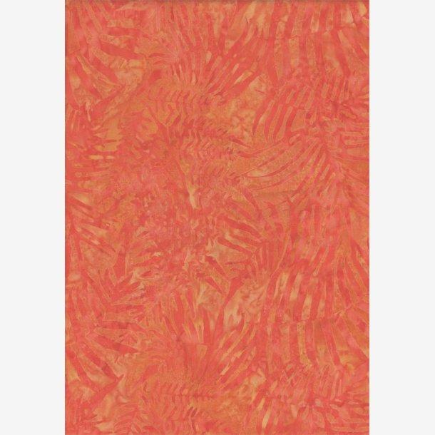 Rød/orange tone-i-tone (batik)