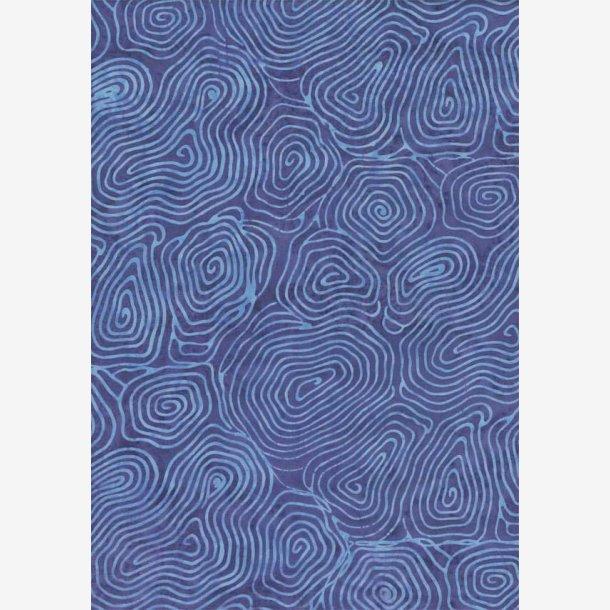 Blåt grafisk mønster (batik)