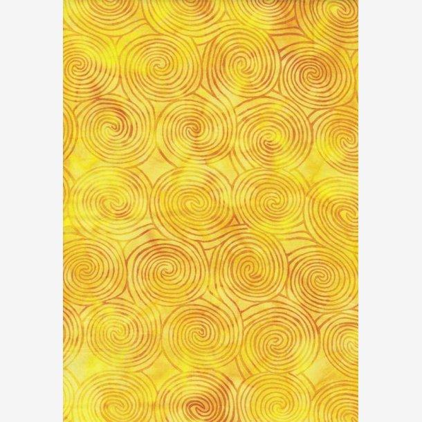 Gyldne spiraler på gul