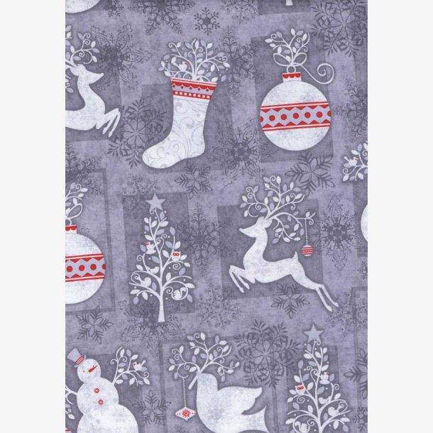 Vinter-/julemotiver på grå