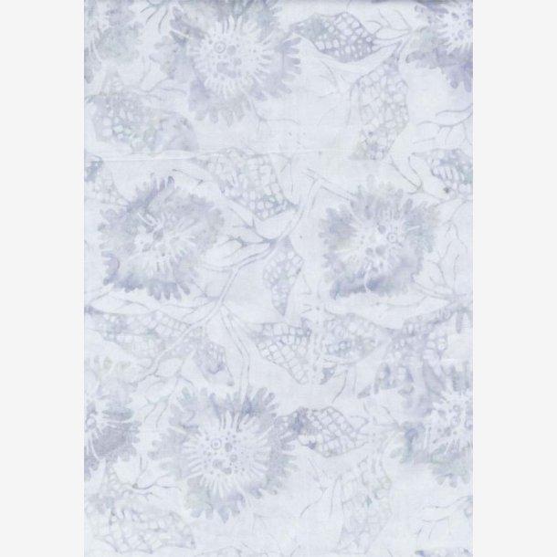 Isblå/sart grå tone-i-tone batik