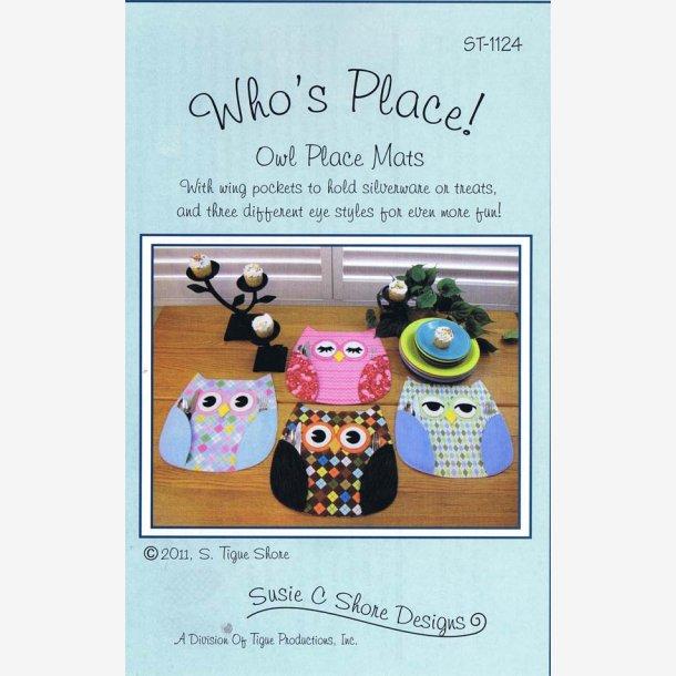 Who's Place - mønster til dækkeservietter