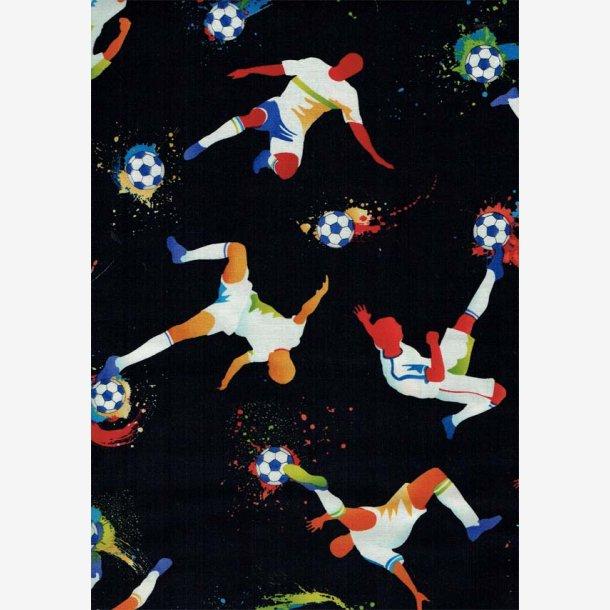 Fodboldspillere på sort