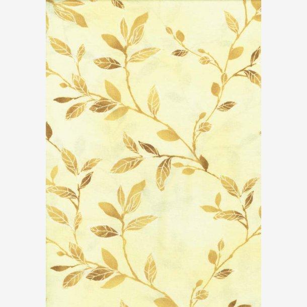 Gyldne kviste på lys gul